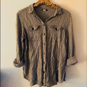 Urban Outfitters BDG gingham flannel button down